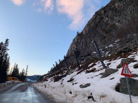 Stenger vei: Nå stenges veien på dagtid forbi Klavefjell.