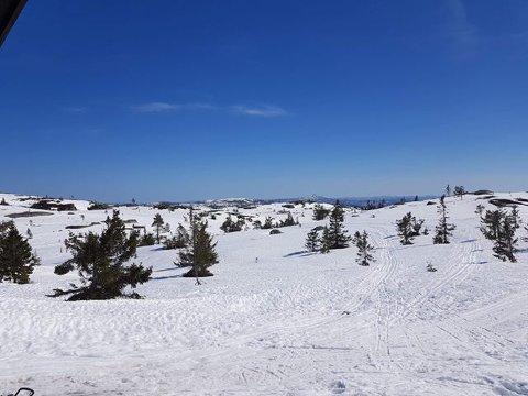 SNØ: Det er plusgrader, men fine skiforhold på Ble i påsken.
