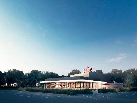 Restauranten som skal bygges i Kongsberg, blir en standard Max hamburgerservering med uteservering og «drive through».