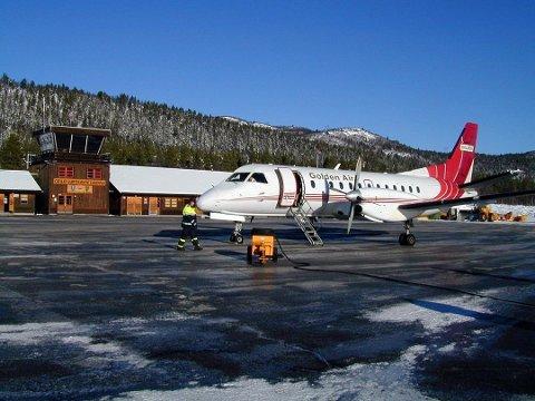 INNBRUDD: I august ble det gjort innbrudd på Dagali Flyplass. Bildet er tatt ved en tidligere anledning. Arkivfoto: Vidar Skreprud