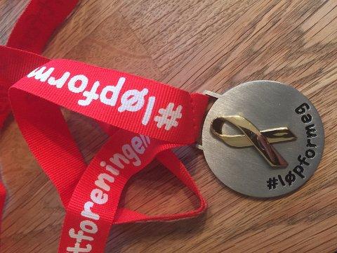 LØP FOR MEG: Alle som deltar får medalje.