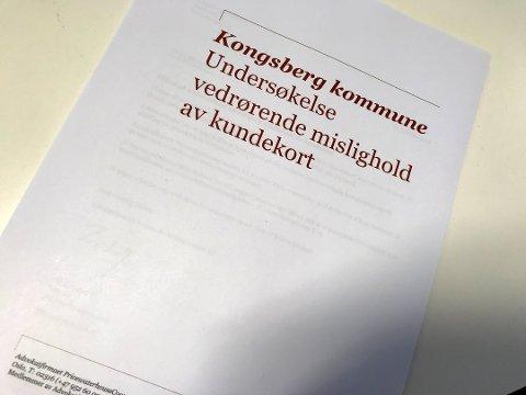 Faksimile av rapporten etter KKE-saken.