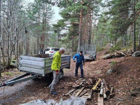 DUGNAD: Nå er de gamle rampene kjørt på Røysa.