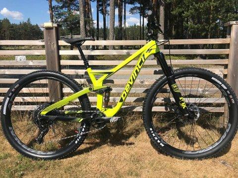STJÅLET 1: Dette er den ene sykkelen som er stjålet fra garasjen til Trude Aamodt Telnes.