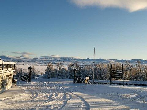 VINTERLANDSKAP: Det er julestemning så langt øyet kan se på Torsetlia på Dagalifjell.