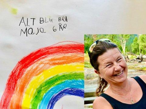 UTTRYKK: – Barnetegningen kan få en ny funksjon i en tid som denne. Kanskje dette blir en ny renessanse for barnas uttrykk gjennom tegningen, sier tegneforsker Bente Fønnebø.