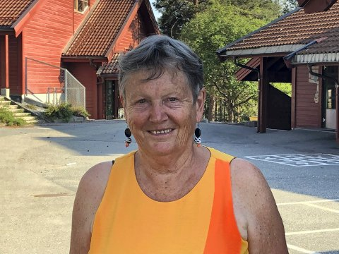 EN LANG KARRIERE: Ingjerd Doran har bare gode minner fra sine 45 år som lærer. De siste 32 årene har jobbet på Gamlegrendåsen skole.