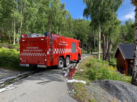 LITEN BRANN: Brannvesenet kunne kjapt avslutte på stedet.