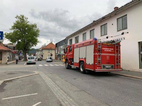 BRANNALARM: En tørrkokt kjele utløste brannalarmen i Myntgata torsdag ettermiddag. Foto: Natalia Heinrich.