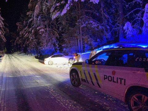 UTFORKJØRING: Det har vært mange utforkjøringer på Gamleveien i det siste. Natt til tirsdag smalt det igjen.