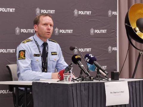 Pressekonferanse: Per Thomas Omholt under pressekonferansen mandag klokka 14 på Grand.