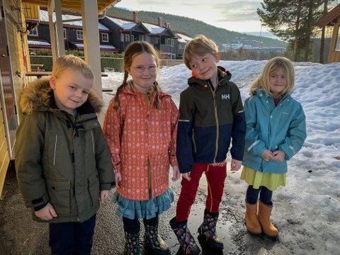 Fra venstre: Hallvard Tollehaugen, Tyra Randine Hogstad, Ask Rilvaag og Sofie Isabelle Åstveit Rauboti.