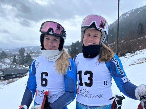 HARDE OPPGJØR: Voss' Anna Bryn Mørkeset (t.v.) og KIFs Anine Thoresen har hatt mange harde oppgjør i alpinløypa denne vinteren.
