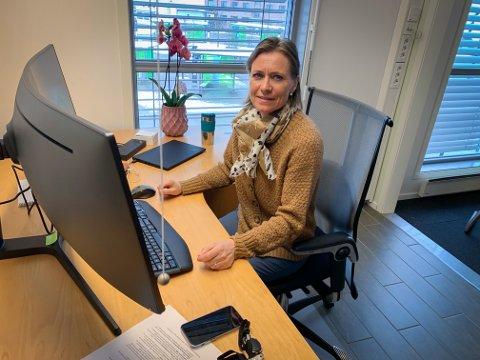 NY JOBB: Beate Smetbak startet i den nye jobben som kommuneoverlege ved samfunnsmedisinsk enhet i Kongsberg rett etter påske.