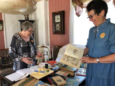 GODE MINNER: Marit Lian Mogen (t.v.) og Liv-Berit Muggerud er begge født i 1944 og har sammen med flere i Lågdalsmuseets venner laget en utstilling med leker gjennom mer enn 100 år.