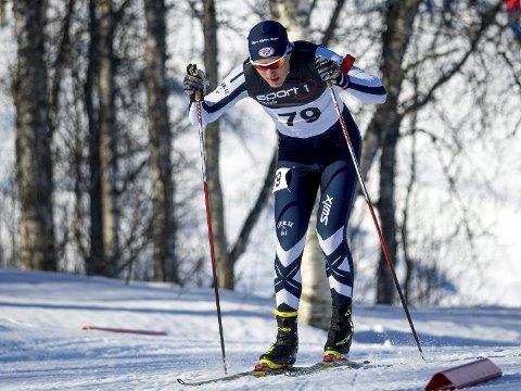 I TOPPEN: Mats Øverby sikret seg to bronsemedaljer i Hovedlandsrennet i skiskyting i Bardufoss. Foto: Ole Reidar Mathisen