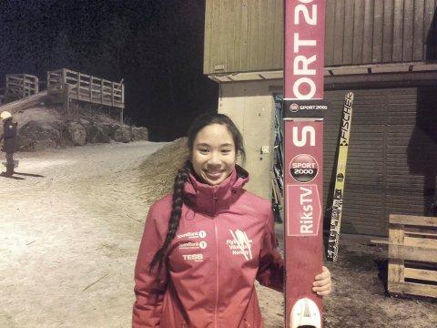 BEST AV DE NORSKE: Av fem norske hopp-jenter, strakk Thea Sofie Kleven seg lengst under kvinnenes individuelle renn i junior-VM i Utah.