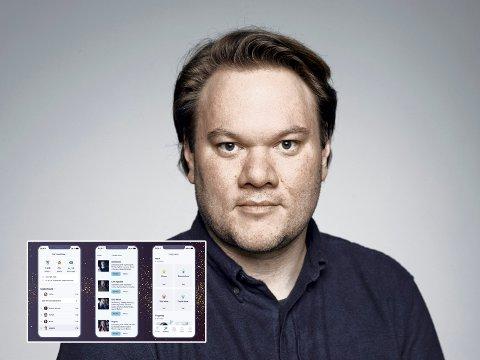 Mer engasjement: Simen Eidsvåg ønsker å øke folks musikkengasjement med den nye appen Fantasy Music Manager (innfelt).