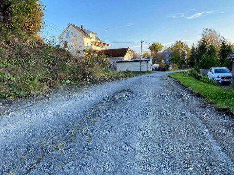 Klar for asfalt: Linjeveien ligger klar og venter på at asfaltering kan starte mandag.
