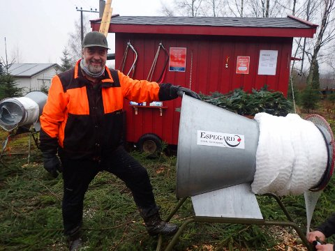 Bjørn Ringstad er en veteran med sine 33 år på Askvang Juletreplantasje på Egge i Lier.