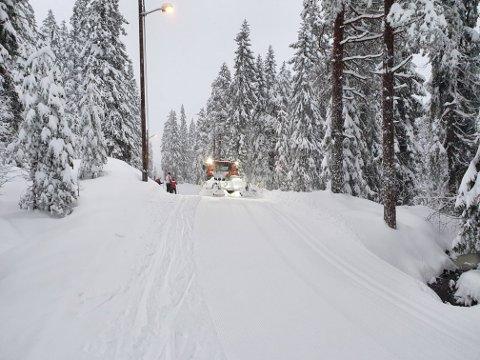 Overraskende mye: Mye av nedbøren som var spådd som regn, kom som snø. Med kuldegrader fra nyttårsaften ser det ut som det kan bli en god avslutning på 2020 og knallstart på 2021 for de skiinteresserte.