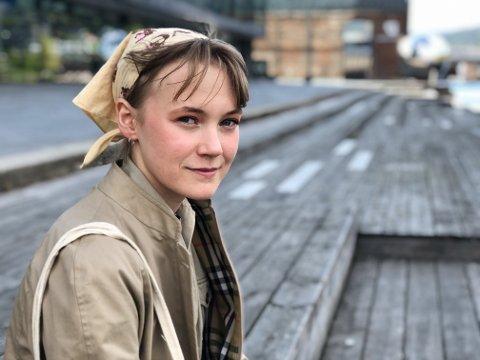 Ny Venstre-leder: Erika Melhus (18) er valgt inn som nye leder av Lier Venstre.
