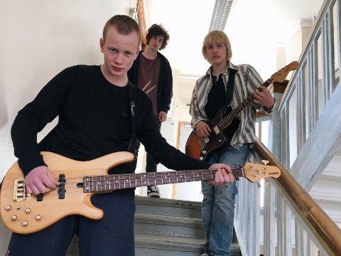 Beste stedet å øve: Tobias Jacobsen, Jonathan Wærnes og Thomas Rønne Christensen er glad for å være tilbake i favorittøvingslokalet.