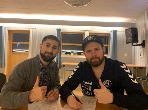 Utfordrende oppstart: Håvard Sagmoen og Mehran Marandi ble i vinter henholdsvis trener og assistenttrener i det nystartede seniorlaget til Lier IL i herrefotballens 7. divisjon. Nå opplever de stadig større frafall på treningene.
