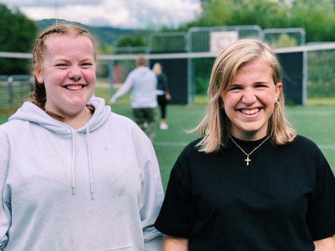 Har det mye bedre nå: Sigrid Bergersen (17) og Marlene Dalen (21) har fått det mye bedre etter de begynte på Briskeby skole.