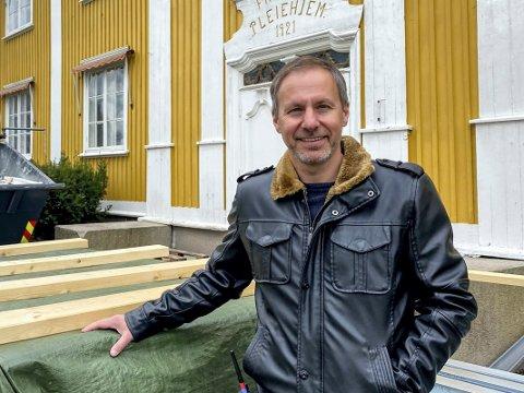 Brenner for eldreomsorg: Richard Skaar Thorsrud har et hjerte som banker hardt for eldreomsorg, og et sterkt ønske om å bidra til at den blir så god som mulig over hele landet.