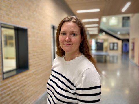 Positiv: Kommuneoverlege Ingrid Bjerring synes det er en positiv korona-trend etter helgen.