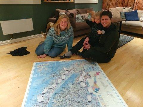 Ut på langtur: Ole Thomas, Ingrid og Mons er klare for tur fra Oslo til Nordkapp. I lang tid har de planlagt turen på 10 måneder. 1. mars klokken 08.00 blir leiligheten leid ut, bilen er vraket og familien legger i vei inn i Nordmarka.