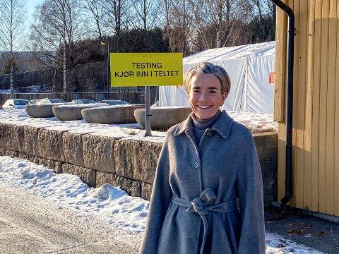 Håper på lettelser: Ordfører Gunn Cecilie Ringdal håper det nå kan lettes på tiltaksnivået i Lier.
