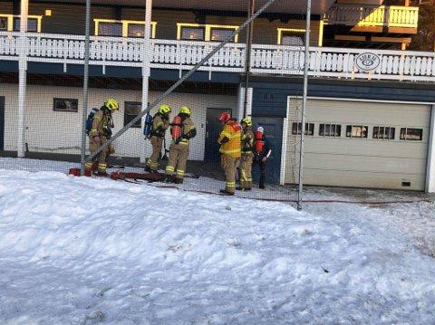 Brann i klubbhuset: Det kunne endt i katastrofe, men det ble kun moderate skader i deler av 1. etasje på Lier ILs klubbhus på Tranby.