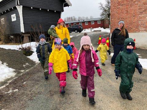 Lierskogen: Nedre Stabæk barnehage er én av tre barnehager på Lierskogen. Bildet ble tatt i fjor i forbindelse med en artikkel om at barnehagen kom best ut på barnas trivsel i foreldreundersøkelsen.