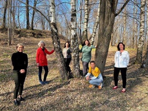 Styringsgruppa for sommerskolen 2021: Fra venstre: Gunn Cecilie Ringdal, Ingeborg Rivelsrud, Live Brekke, Frøydis Rui-Rahman, Vibeke Ortun og Kari-Ann Dale.