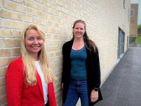 Klare til å vaksinere flere: Prosjektleder for vaksineprogrammet Heidi Kristin Ringstad (t.v.) og kommuneoverlege Ingrid Bjerring.