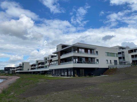 Dyrest: En leilighet beliggende i dette bygget i Engersand Havn, var den dyreste boligen som ble solgt i Lier i juli.