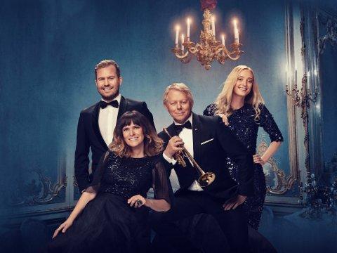 Kommer til Lillestrøm: Cecilia Vennersten og Ole Edvard Antonsen (foran) har med seg Stine Hole Ulla og Knut Marius Djupvik til konserten i Lillestrøm kirke 9. desember.