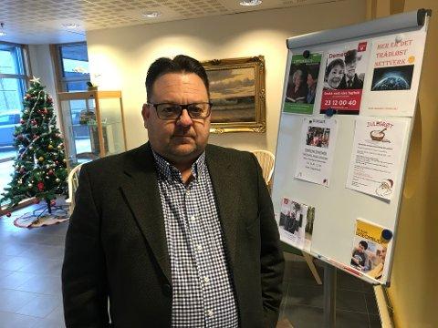 DEMENSPLASSER REDDET: Glenn Due-Sørensen (H) er fornøyd med at dagsenterplassene ved Åråsveien blir bevart inntil videre.
