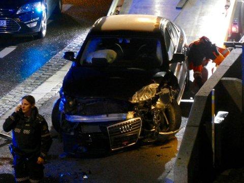 DRAMATISK: Føreren måtte legges i bakken av vitner i Lillestrøm sentrum.