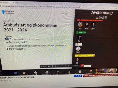 PROBLEMER: Det er IT-problemer i kommunestyremøtet i Lillestrøm i dag.