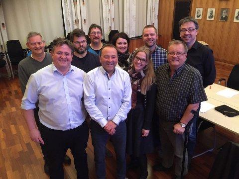 Her er posisjonen som fant hverandre mandag kveld; Høyre, Venstre, Senterpartiet og Fremskrittspartiet.