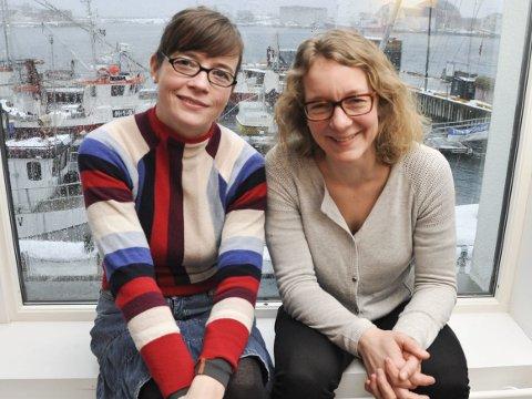 Prisvinnere: Kriss Rokkan Iversen og Kjersti Eline Tønnessen Busch i Salt ble tildelt miljøprisen.Foto: Åshild Marita Håvelsrud