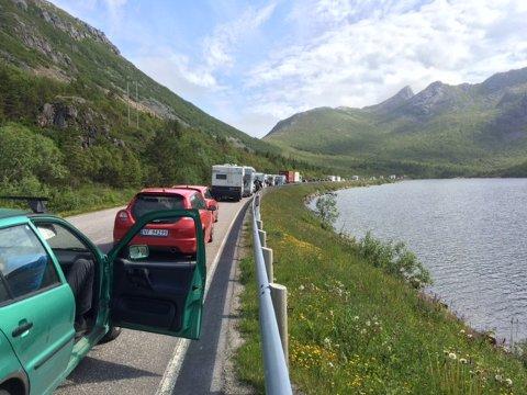 Slik så det ut på vestsiden av Rørvikskartunnelen kort tid etter ulykken.