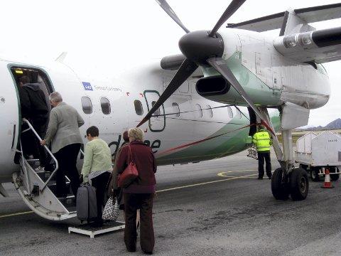 Økt: Høyeste pris Widerøe kan ta til og fra Bodø øker fra 1. april.Foto:arkiv