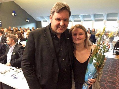 Jonny Finstad og Elizabeth Åsjord Sire. Foto: Privat
