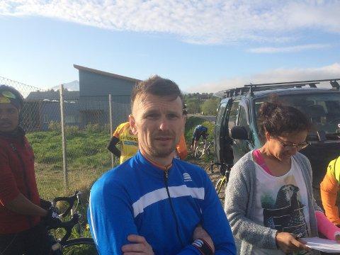 Johnny Strømnes i Lofoten sykkelklubb.