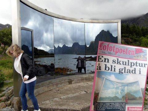 Dusjkabinettet Dan Graham Lyngvær Skulpturlandskap Nordland Vågan