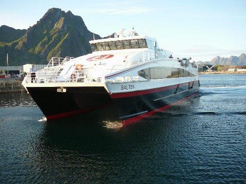Flere reisende: Hurtigbåten mellom Svolvær og Bodø øker passasjertallet.